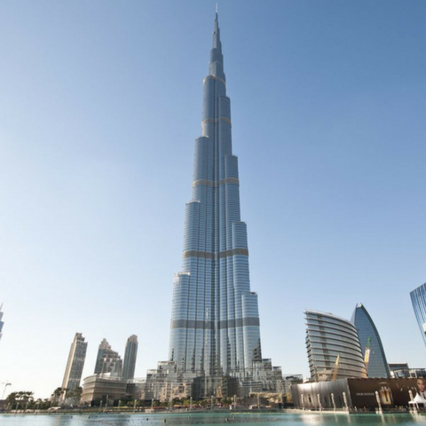 Cewe top 10 most instagrammed places for The burg hotel dubai
